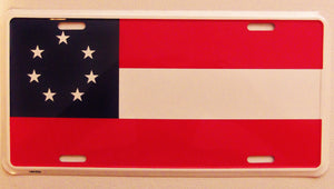 CONFEDERATE 1ST NATIONAL FLAG LICENSE PLATE