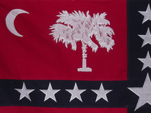 SEWN & EMBROIDERED COTTON SOUTH CAROLINA SOVEREIGNTY FLAG