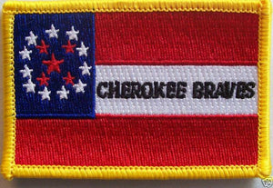 CHEROKEE BRAVES PATCH - CONFEDERATE STATES