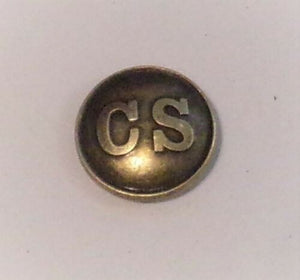 BRASS CS PIN - CONFEDERATE STATES OF AMERICA + CIVIL WAR UNIFORM PIN - DEFECTIVE CLASP