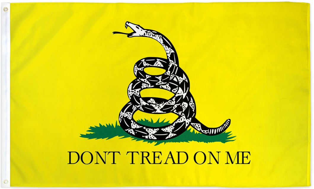 DON'T TREAD ON ME (YELLOW) FLAG 3X5FT POLYESTER FLAG