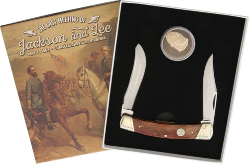 Civil War Last Meeting Knife - Robert E Lee and Stonewall Jackson