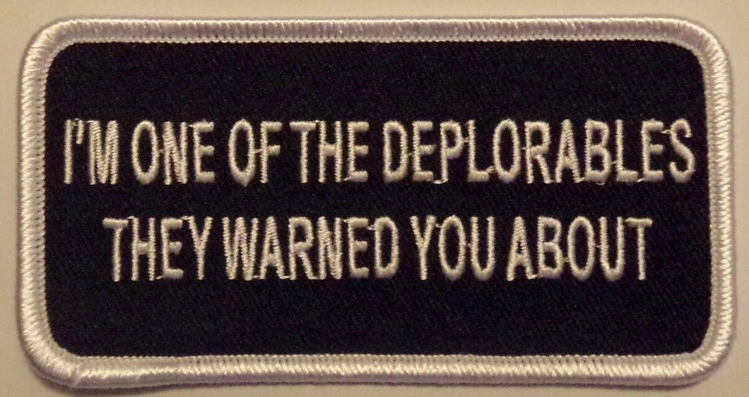 PRESIDENT TRUMP - DEPLORABLE - PATCH