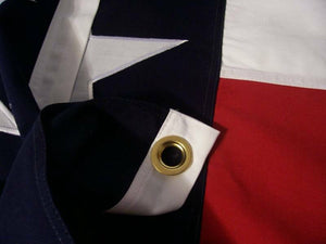 HEAVY COTTON TEXAS STATE FLAG - SEWN LONE STAR - MANY SIZES