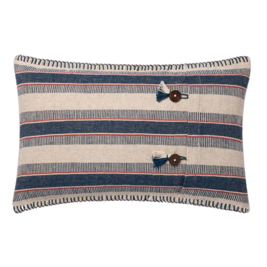 Indigo / Natural Pillow