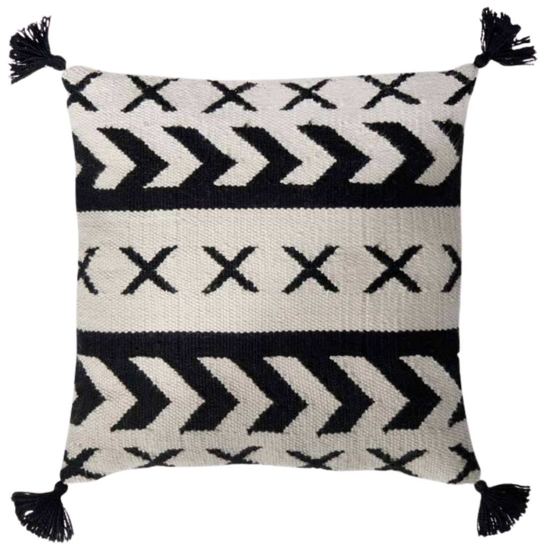 In / Out Throw Pillow