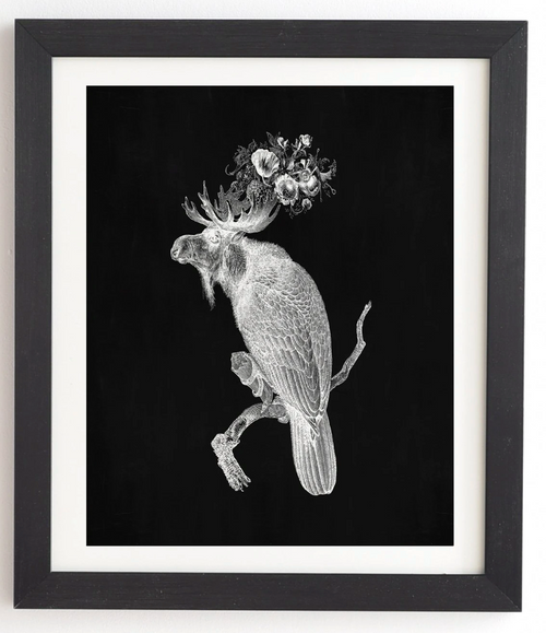Moosebird Framed Wall Art