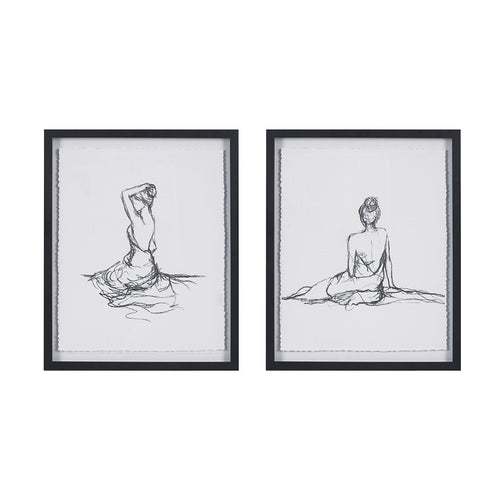 Feminine Figures Framed Wall Art Set