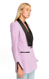 Aida Double Breasted Blazer Lilac
