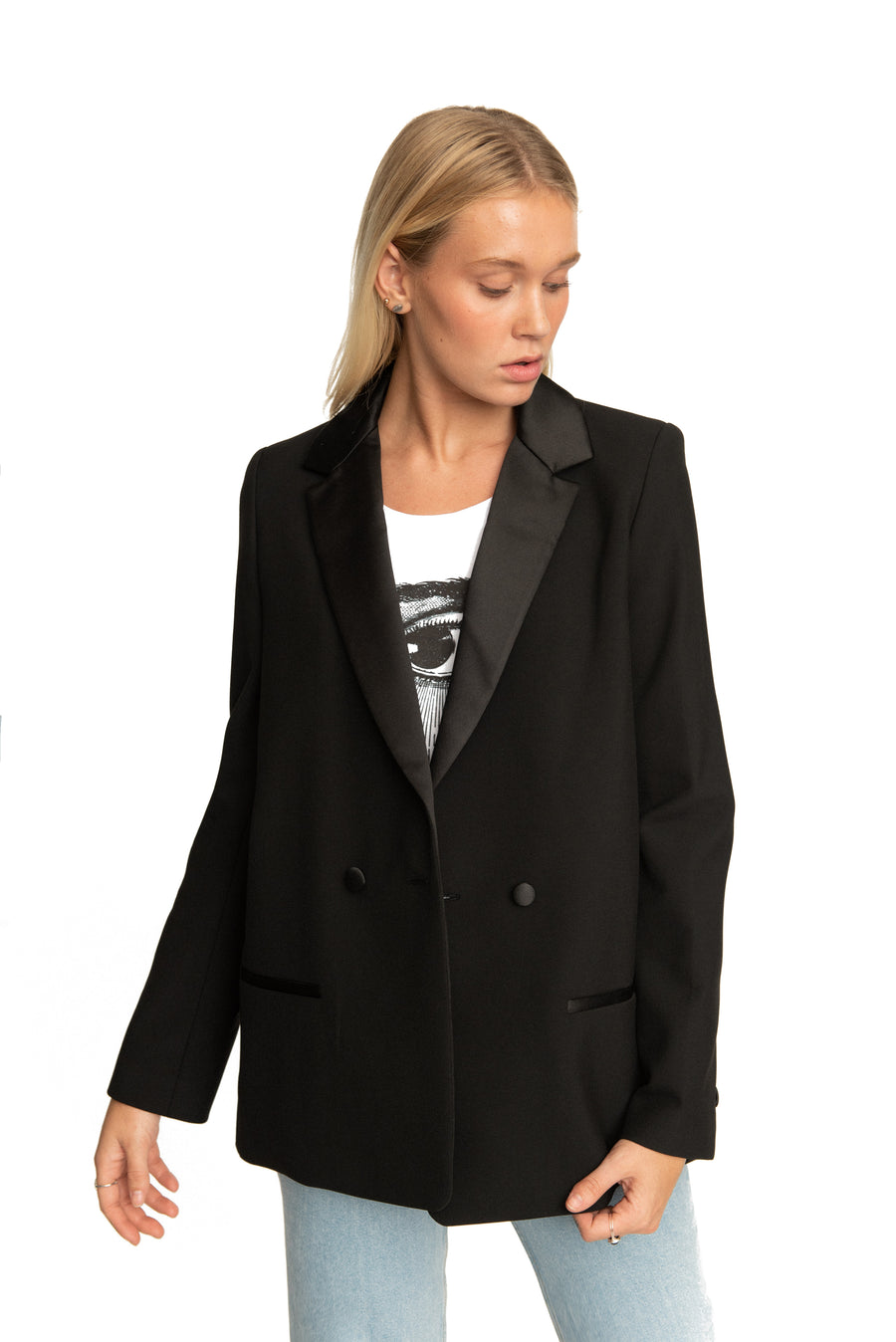 Clair Boyfriend Blazer Black