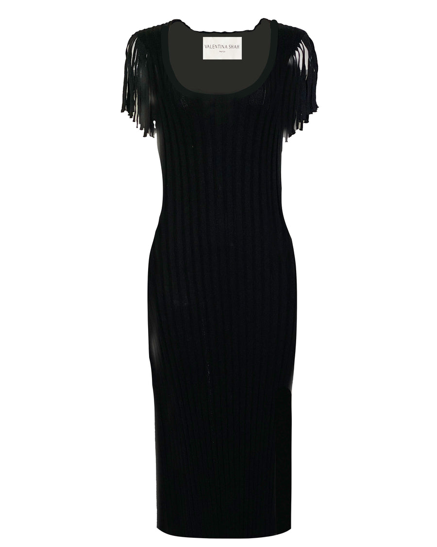 DAMIANA KNIT DRESS- BLACK