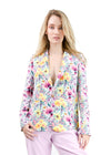 Gaia Single Botton Blazer - FLOWER PRINT