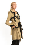 Giada Trench Dress Fringe Blazer Rafia