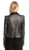 Ines Cropped Double Breasted Blazer Pewter