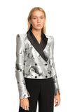 Ines Double Breasted Cropped Blazer in Pop Print
