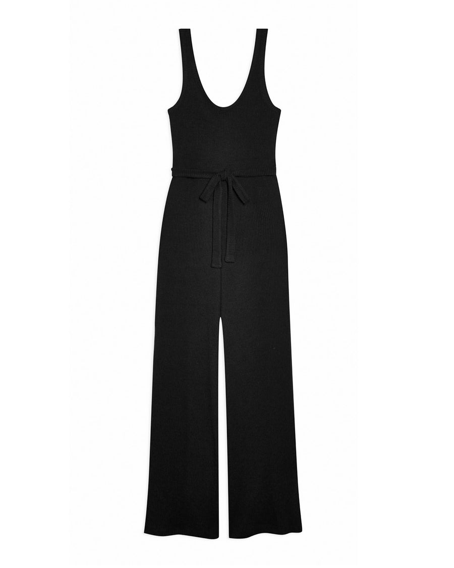 JADE KNIT JUMPSUIT- BLACK