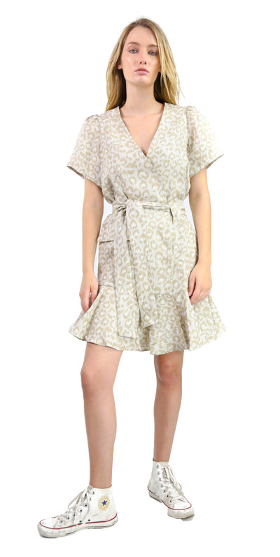 Emma Dress Animal Linen