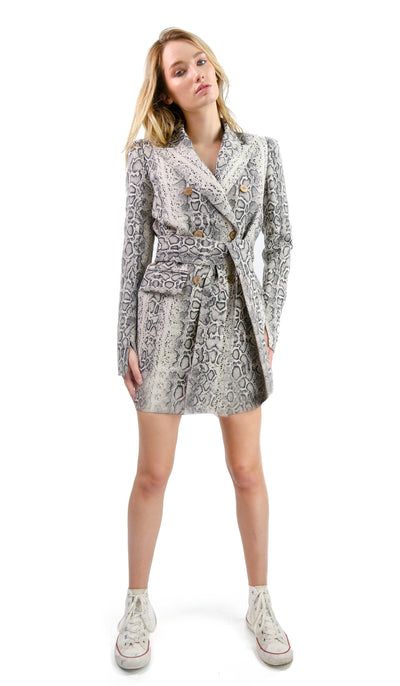 Marissa Blazer Dress Snake Print