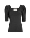 TIFFANY KNIT TOP- BLACK