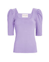 TIFFANY KNIT TOP- LAVANDER