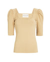 TIFFANY KNIT TOP- BEIGE