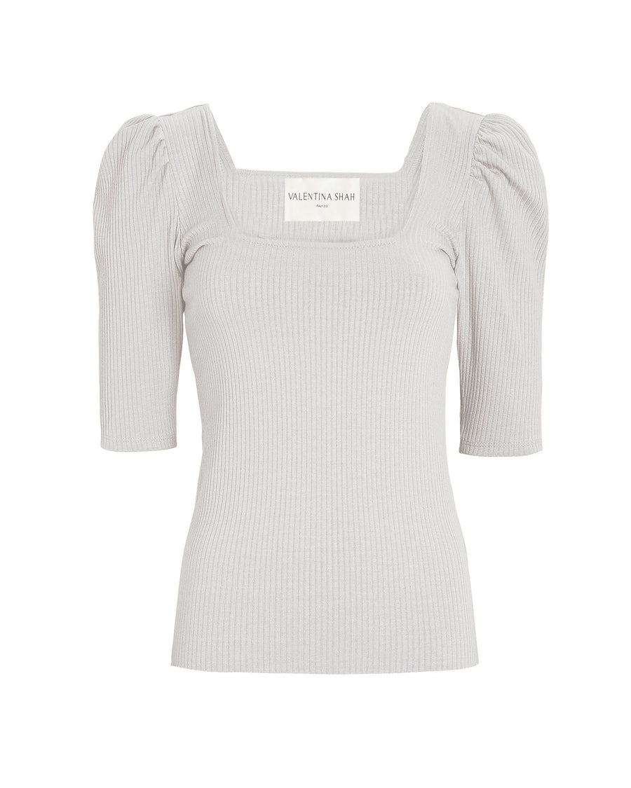 TIFFANY KNIT TOP- WHITE