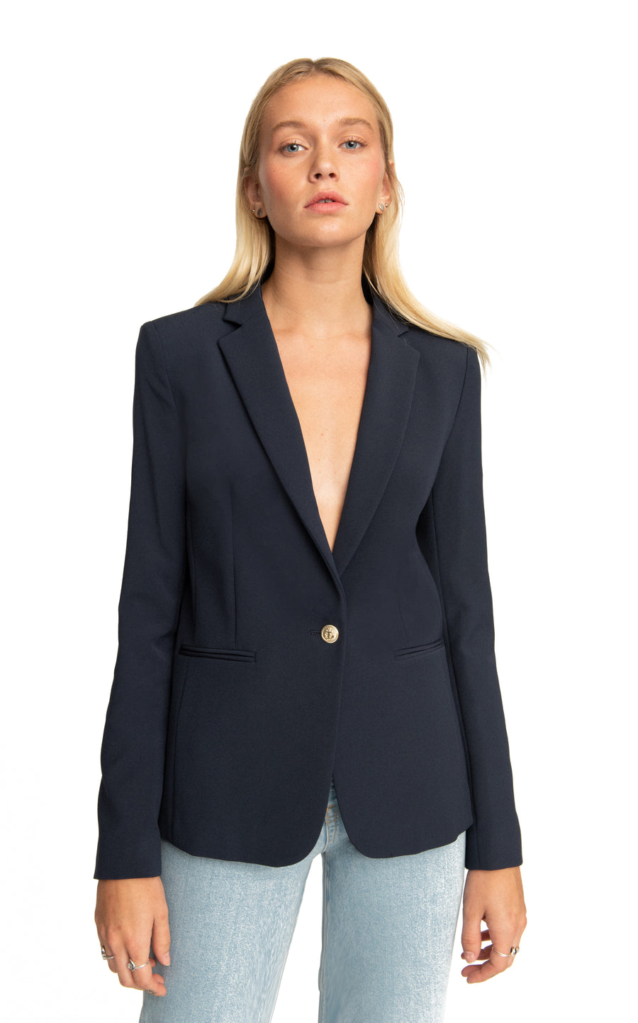 Gaia Single Botton Blazer Blues