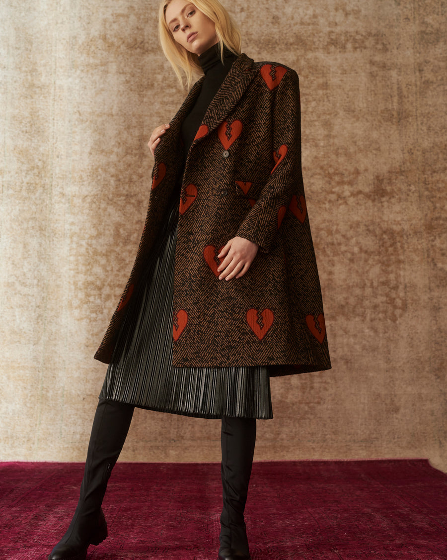 Heartbreaker embroidered Sara Coat
