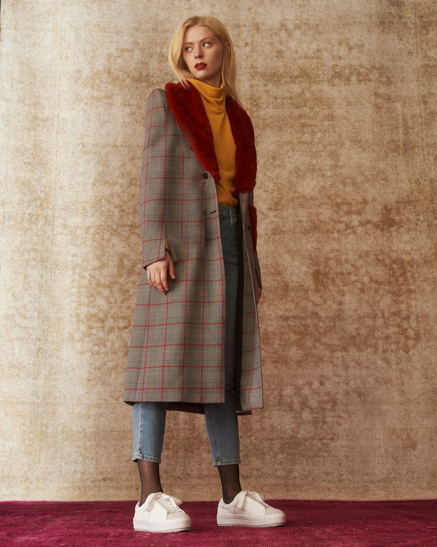 Gigi Lipstick Royal Plaid Coat