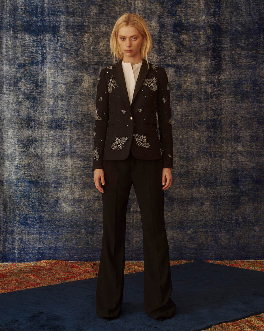 Gaia Single Botton Blazer Embroidered