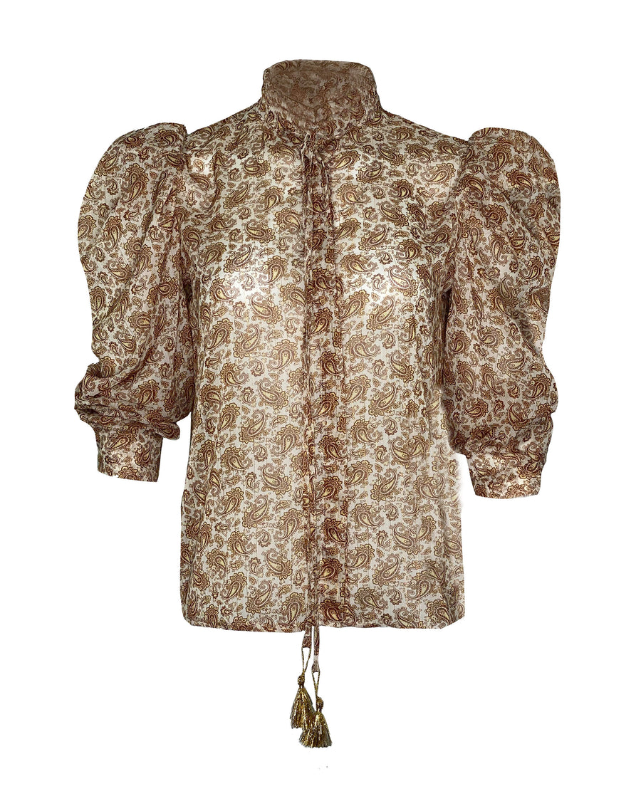 PAISLEY LUREX TOP