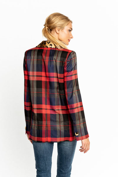 Royal Plaid Clair Blazer - Blazer