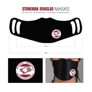 Be Positive, Be Passionate, Be Proud to Be an Eagle Masks. Reusable Face Mask   100% Polyester, 100% Washable  3 layers. Dri-fit polyester for better breathing ability   Available with Two ear loop positions for a custom fit.