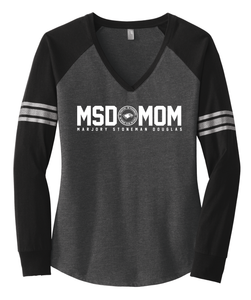 MSD Mom V-neck Long Sleeve Jersey Front