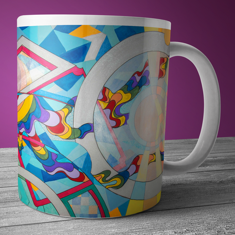 Full Time Sunshine - Modern Art Mug