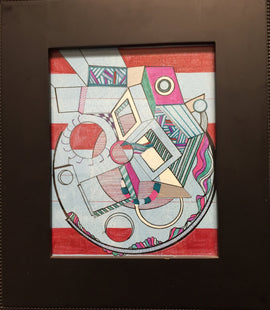 B-Side: Geometric, Abstract, Avant Garde, Contemporary Acrylic Art
