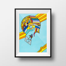 Rainbow Brain - Abstract Wall Art Print, Home Decor Wall Art, Living Room Decor, Modern Art, Surreal Art, Rainbow Art