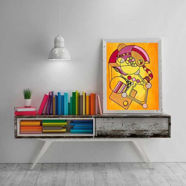 Golden Clutter - Abstract, Home Decor Wall Art, Modern Art, Surreal Art
