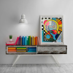 Eternal Optimist - Abstract Wall Art Print, Home Decor Wall Art, Living Room Decor, Modern Art, Surreal Art, Rainbow Art