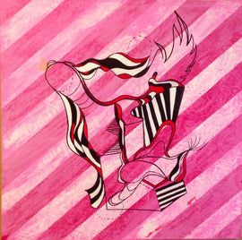 Florentino Waits For Fermina - Giclee Fine Art, Pink, Geometric, Modern, Pop