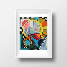 Eternal Optimist - Abstract, Home Decor Wall Art, Modern, Surreal Art, Rainbow Art