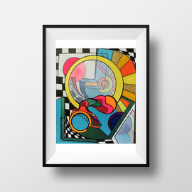 Eternal Optimist - Abstract Wall Art, Home Decor, Modern, Surreal Art, Rainbow