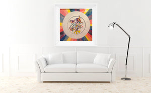 The Hot Zone - Abstract Wall Large Art Print, Home Decor Wall Art, Living Room Decor, Modern Art, Surreal Art, Rainbow Art