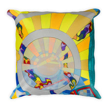 Full Time Sunshine - Modern Art, Pillow Cover, Abstract Rainbow, Sunray Geometric