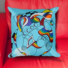 Tale for the Time Being #2 - Modern Art, Pillow Cover, Abstract, Rainbow, LGBT Design
