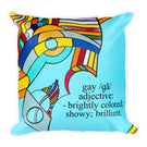 Gay Defined - Modern Art 18x18 inch Pillow Cover with Abstract Rainbow Geometric LGBT Design