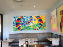 Give it a Try! - Triptych, 4x9 Feet, Colorful Geometric Abstract, Original Painting, Huge, Rainbow, Modern Wall Art by Skye Lucking