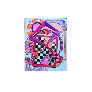 Noo Colors: 17 x 20 inch, Colorful, Geometric, Abstract, Avant Garde, Original, Contemporary Acrylic Art