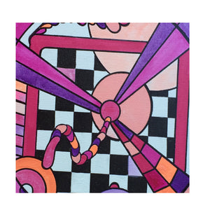 Noo Colors: Geometric, Abstract, Avant Garde, Original, Contemporary, Acrylic Art