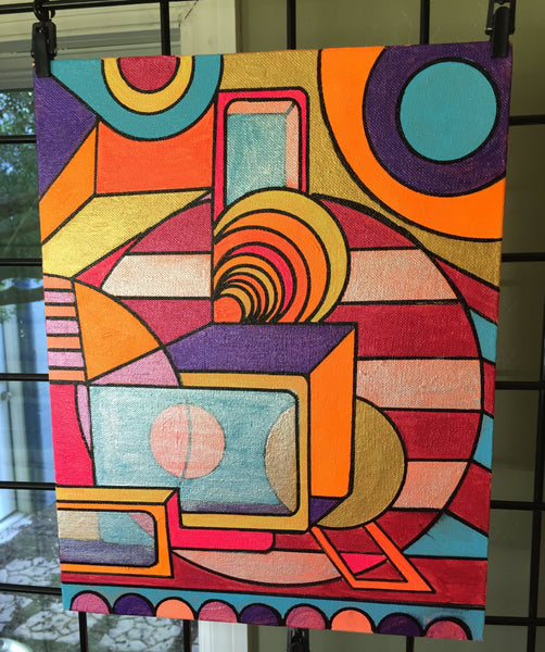 Everything is Wonderful: Geometric, Abstract, Avant Garde, Original, Contemporary Acrylic Art